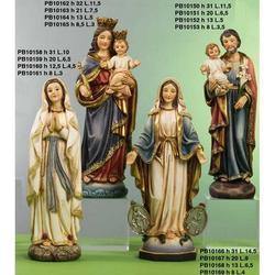 Statua Maria Ausiliatrice in resina da cm 32