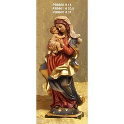 Statua Sacra della Madonna con Bambino cm 20.5 resina
