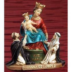 Statua Madonna di Pompei in resina da cm 11x10