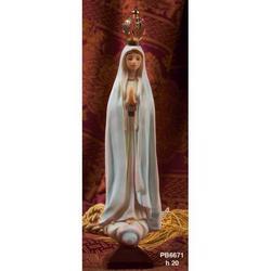 Statua Madonna di Fatima cm 20 in resina