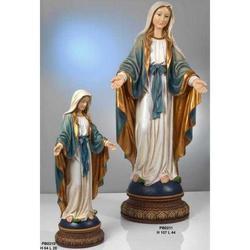 Statua Madonna Immacolata Miracolosa cm 64x28 in resina