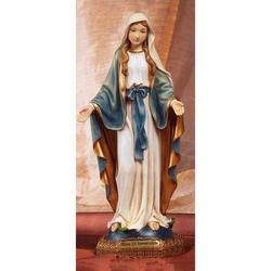 Statua Madonna Immacolata Miracolosa in resina cm 42.5