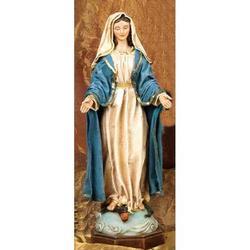 Statua Madonna Immacolata cm 20 in resina e stoffa