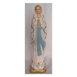 Statua Madonna di Lourdes in gesso cm 30