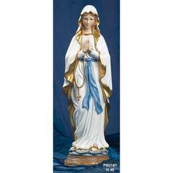 Statua Madonna di Lourdes cm 40 in Porcellana