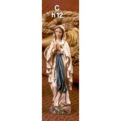 Statua Madonna di Lourdes cm 12 in resina