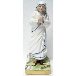 Statuetta Madre Teresa di Calcutta in gesso da cm 19