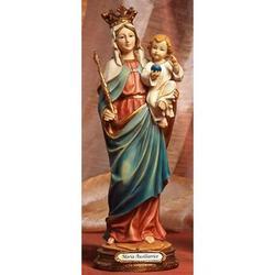 Statua Madonna Maria Ausiliatrice cm 14.5 in resina