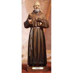 Statua Sacra di Padre Pio cm 22 in resina