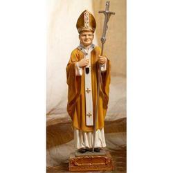 Statua Papa Giovanni Paolo secondo cm 12 resina