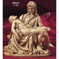 Statua Pieta di Michelangelo in resina da cm 19