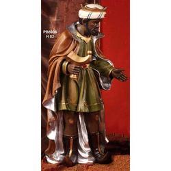 Statua Re Magio per Presepe con mirra cm 82 in resina
