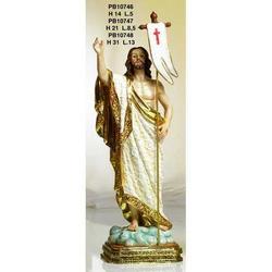 Statua Sacra del Cristo Risorto cm 31 in resina