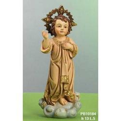 Statua Sacra di Gesu Bambino su nuvola cm 13 resina