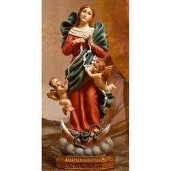 Statua Madonna che scioglie i nodi cm 22.5 resina