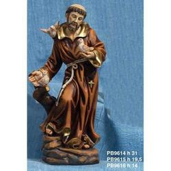 Statua Sacra di San Francesco cm 14 in resina