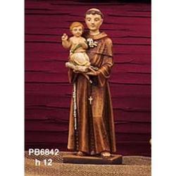 Statua Sacra di Sant Antonio cm 12 in resina