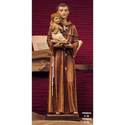 Statua Sacra di Sant Antonio cm 20 in resina
