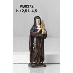 Statua Sacra di Santa Chiara cm 12.5 in resina