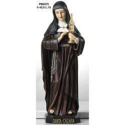 Statua Sacra di Santa Chiara cm 42.5 in resina
