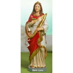 Statua Sacra di Santa Lucia in resina cm 19.5