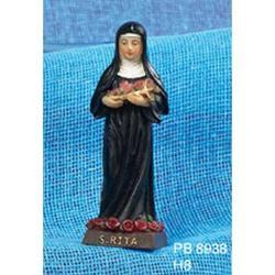 Statua Sacra di Santa Rita cm 8 in resina
