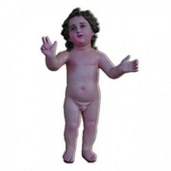 Statua Gesù Bambino Nudo in vetroresina cm 58