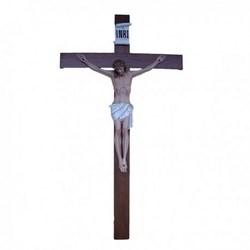 Corpo cm 105 in vetroresina, completa di croce in legno cm 220