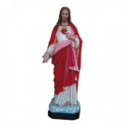 Statua Sacro Cuore di Gesù in vetroresina cm 110