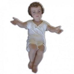 Statua Gesù Bambino a braccia aperte in vetroresina cm 65