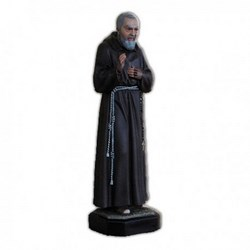 Statua San Pio da Pietrelcina in vetroresina cm 80