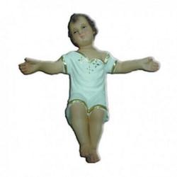 Statua Gesù Bambino a braccia aperte in resina cm 15