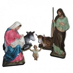 Natività completa da 5 statue in vetroresina cm 165