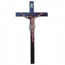 Corpo cm 35 in resina, completa di croce in legno cm 80