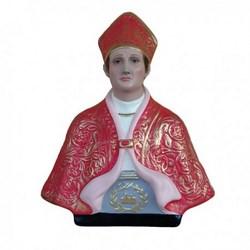 Statua San Gennaro mezzo busto in resina cm 35