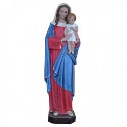 Statua Madonna con bambino in vetroresina cm 145