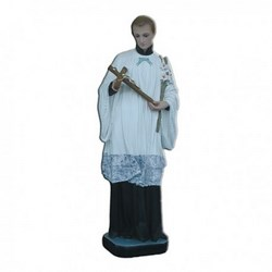 Statua San Luigi in vetroresina cm 60