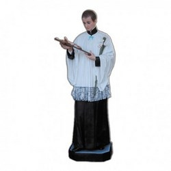 Statua San Luigi in vetroresina cm 170