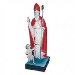 Statua San Biagio con bambino in vetroresina cm 80