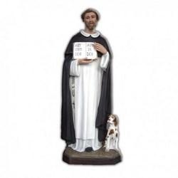 Statua San Domenico Guzman con cane in vetroresina cm 160