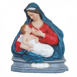 Statua Madonna delle Grazie busto in vetroresina cm 100