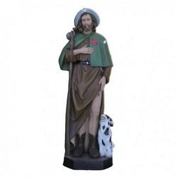 Statua San Rocco in vetroresina cm 115