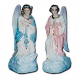 Coppia di statue Angeli Adoranti in ginocchio in vetroresina cm 100