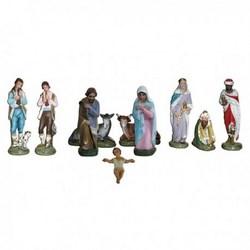 Presepe completo da 10 statue in resina cm 40