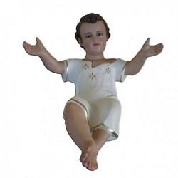 Statua Gesù Bambino a braccia aperte in resina cm 50