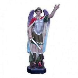 Statua San Michele Arcangelo con spada in vetroresina cm 60