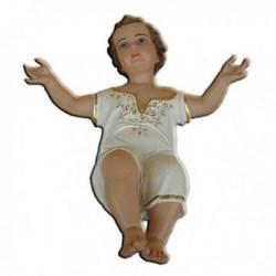 Statua Gesù Bambino a braccia aperte in vetroresina cm 60