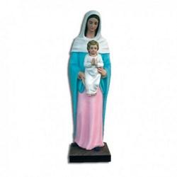 Statua Madonna con bambino in vetroresina cm 86