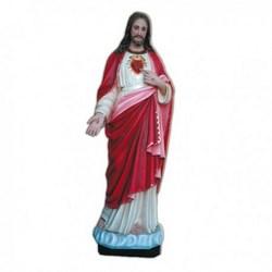 Statua Sacro Cuore di Gesù in vetroresina cm 130