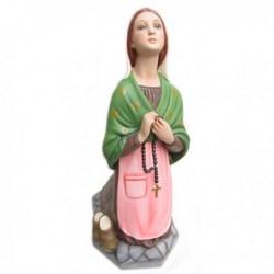 Statua Bernadette in vetroresina cm 45 per Madonna di Lourdes da 75/85 cm